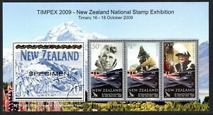 "New Zealand. Sc#1084 ""SPECIMEN"" in a Souv. Sheet. #1084 Engraver Cz. Slania."