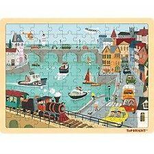 TOP BRIGHT - Puzzle drewniane port (100 el.)