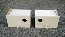 "Pair Of Budgie Nest Nesting Breeding Boxes  9"" x 6"" x 6"""