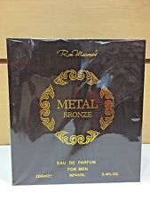 Metal Bronze Ron Marone's Men Cologne EDP Spray 3.4 oz / 100 ml NIB Sealed Pack