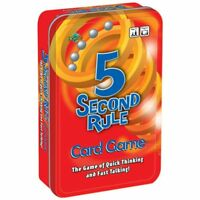NEW Five Second Rule Fun Fast Paced Unique Family Friendly Kids Party Game Tin!