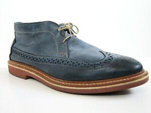 EXCELLENT Allen Edmonds Chukkamok Blue Mens Leather Boots Shoes 11D 11