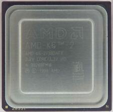Processeur  AMD K 6 2 380 AFR Collection Old Cpu Vintage Testé OK