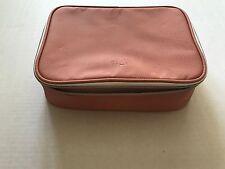"Laura Geller 9-1/2"" Makeup Bag - Peach - Brand New - Train case"