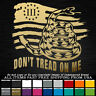Tattered Flag Snake Don't Tread on Me Left 3% 2nd Amendment Sticker Decal