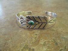 OLD Fred Harvey Era Navajo Silver Turquoise WHIRLING LOG ARROW Design Bracelet