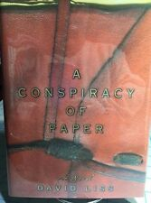 A Conspiracy of Paper - David Liss ,Hardcover, Dust Jacket, 2000, 1st Edition)