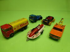 LOT of 5 VEHICLES  MAJORETTE - SHELL BUGGY WRECK TRUCK - NICE CONDITION