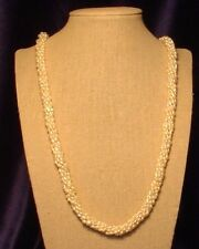 """A 6-string 30"""" Fresh-water Pearl Necklace with Matching Bracelet & Earrings"""
