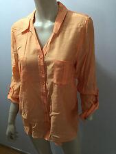 BNWT Ladies Sz 12 Myer Regatta Brand Pretty Mango Long Sleeve Shirt RRP $50