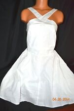 Victorias Secret Moda International Cotton Strappy Beach Corset Dress NWT 12