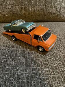 Vintage 2 AMT Chevy Rollback Ford Ranchero Truck Model Kit Built Custom