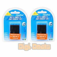BATTERY x 2 for CANON NB-1L 1LH NB1L S110 S200 S400 S500 Camera TWO BATTERIES