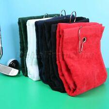 Cotton Carabiner Clip Golf Hiking Towel Golf Club Clean Facecloth Golf Washrag