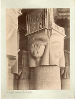 Egypte, Denderah, Colonne du Temple Vintage albumen print.  Tirage albuminé