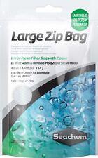 "SEACHEM LARGE ZIP BAG 19""X 17"" FILTER MEDIA MESH. USA"