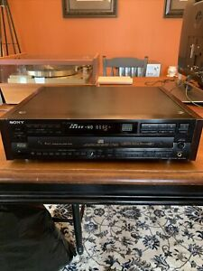 Sony CDP-C79ES ES Series CD Changer Works Great