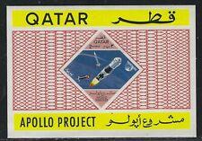 1967 Qatar Scott #123Ja - Apollo Saturn V Rocket Souvenir Sheet - MNH