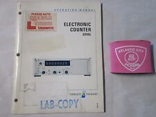 HEWLETT PACKARD 5245L ELECTRONIC COUNTER OPERATING INFORMATION SERVICE MANUAL