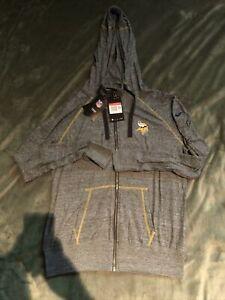Women's Minnesota Vikings Nike Jacket Hoodie Gray Large NWT $70