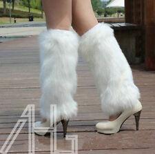 Winter Fashion Boot Cuff Fluffy Soft Furry Faux Fur Leg Warmer Boot Toppers 40cm