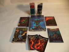 CHAOS ISLE Zombie Card Game & 4 EXPANSIONS 4 PAIRS Zombie Dice 50 stones NEW!!