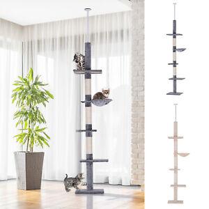 "PawHut 106"" Adjustable Height Floor-To-Ceiling Vertical Cat Tree"