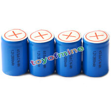 4pcs 4/5 SubC Sub C 2800mAh 1.2V Ni-Mh Rechargeable Battery Blue Cell with Tab
