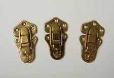 """Lot of 3 Unused Truck Latches (B10B) Brass Colored Steel 3.25"""""""