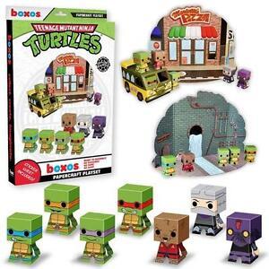 NEW TMNT Teenage Mutant Ninja Turtles Papercraft Playset Funko Building Set