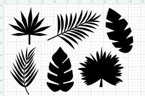"""10 x 7"""" Banana Leaves re-usable stencil Wall Decals coasters DIY Spray Paint"""