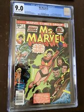 Ms. Marvel 1 CGC 9.0 1977 OW-to-W pages first Carol Danvers