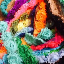 200 Piece Lot of Chiffon Flowers. DIY Chiffon Flowers, craft shabby chic flower