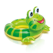 Badetier Kinder Schwimmring Schwimmreifen mit Tierkopf Frosch 57 cm x 56 cm