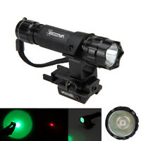 8000Lm Tactical Hunting Flashlight Hunt LED Torch 4Colors + Red Dot Laser Sight