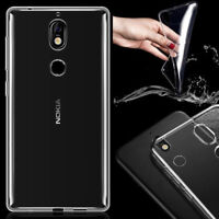 Clear Soft Case Cover Slim Skin Crystal TPU Back For Nokia 1 2 3 5 6 7 8 Plus