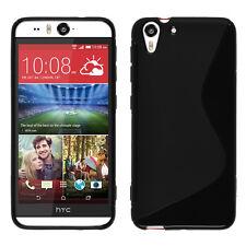 Housse Etui Coque TPU Silicone gel Motif S NOIR pour HTC Desire 510