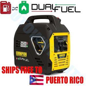 Champion 2500 Watt Dual Fuel Inverter Generator Ultralight SUPER QUIET Portable