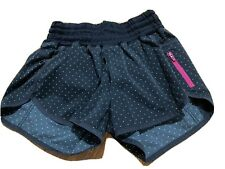 lululemon tracker shorts size 6 Black White Polka Dots Run Bottoms