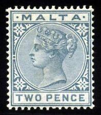 Malta. 1885. 2 d. Gray. SC# 10. MLH