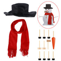 13x Christmas Snowman Dressing Kit Scarf Hat Eyes Mouth Nose Winter Skiing Toys