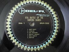 KYA BATTLE OF THE SURFING BANDS VINYL LP 1963 DEL-FI RECORDS VARIOUS ARTISTS VG+