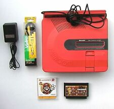 SHARP TWIN FAMICOM Console System AN-500R RED DISK SYSTEM Japan (New Belt)