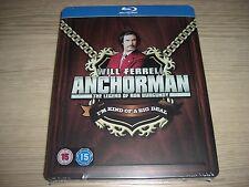 Anchorman: The Legend of Ron Burgundy Steelbook (Blu-ray,2-Disc) REGION FREE NEW