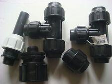 Lot de 5 Pièces,Manchon,Coude,Raccord,Arrosage ou Plomberie,Diam 32 mm (26/34)