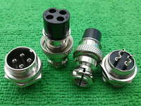 5 4-Pin XLR Audio M & F Chassis Connector / CNC Bipolar Stepper Motor Connectors