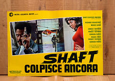 SHAFT COLPISCE ANCORA fotobusta poster Richard Roundtree Blaxploitation AA14