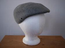 Vintage PENDLETON 100% Wool Felt Newsboy Newsy Hat Cap S USA Made Heather Grey