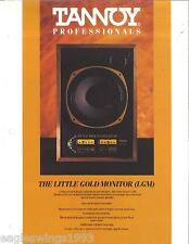 Tannoy Professionals - The Little Gold Monitor (LGM) - DATA SHEET