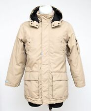BOYS H&M DOWN PADDED JACKET HOODED PARKA BEIGE SIZE 13-14 YEARS 164 CM EXCELLENT